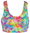 Neon Beach Tracks Chevron Sports Bras