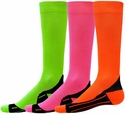 Neon Glide Sport Compression Socks - 4 Color Options