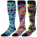 Neon Splat & Swirls Knee-High KraziSox - in 3 Colors