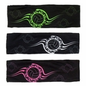 Black Spandex Headbands w/ Neon Tribal Volleyball - in 5 Colors