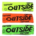 Outside Neon Spandex Headband w/ Black Lettering - in 5 Colors