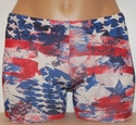 Patriotic Red White & Blue Spandex Shorts