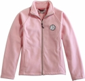 Pink Fleece Volleyball Embroidered Ladies Fitted Jacket