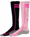 Performance Pink Ribbon Excel Knee High Socks - in 2 Colors