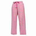 Pink/Black Flannel Tie-Cord Pants - Choice of 22 Sport Imprints on Leg or Rear