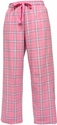 Pink & Black Plaid Flannel Lounge Pants - Choice of 22 Sport Imprints on Leg or Rear