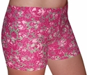Pink Global & Lime Turtles Spandex Shorts