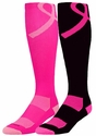 Pink Ribbon Aware Performance Over-Calf Socks - in 2 Colors