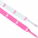 Pink Ribbon Breast Cancer Awareness Shoe Laces - 2 Color Options