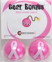 Pink Ribbon Cancer Awareness Gear Bombs