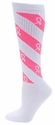 Pink Ribbon Candy Stripe Cyclone Knee High Socks