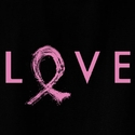 Pink Ribbon Love Design T-Shirt - in 27 Shirt Colors