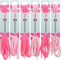 Pink Shoe Laces in Bright Pink & Light Pink - in 3 Style Options