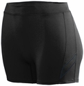 "Poly / Spandex 4"" Stride Black Spandex Shorts"