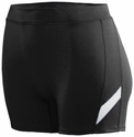 "Poly / Spandex 4"" Stride Black / White Spandex Shorts"