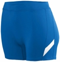 "Poly / Spandex 4"" Stride Royal / White Spandex Shorts"
