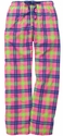 Popsicle Plaid Flannel Lounge Pants - Choice of 22 Sports on Leg or Rear