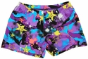 Purple Graffiti Camo Spandex Shorts