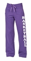 Purple Ladies Fleece Sport Pants - Choice of 22 Sports on Leg or Rear