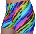 Rainbow Stripes Spandex Shorts