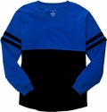 Royal & Black Oversize Game Day Jersey Pullover w/ optional Volleyball Imprint