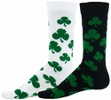 Shamrock Charm Crew Socks - in White or Black