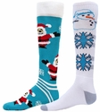 Santa or Snowman Winter Knee High Socks