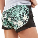 Soffe Aqua & Sea Glass Shatter Track Shorts