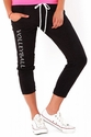 Soffe Black Pocket Capri Pants - Choice of 16 Sport Script Imprints - Rear or Leg