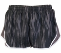 Soffe Black & Grey Velvet Paint Track Shorts