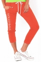 Soffe Cayenne Orange Pocket Capri Pants - Volleyball Leg Imprint