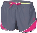 Soffe Dark Grey & Pink w/ Zebra Piping Running Shorts