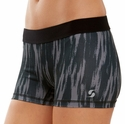 Soffe Dri Black Velvet Paint Pattern Spandex Shorts