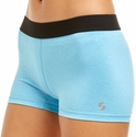 Soffe Dri Blue Heather Spandex Shorts