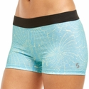 Soffe Dri Blue Spider Web Pattern Spandex Shorts