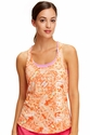 Soffe Dri Coral Obsession Racerback Tank Top w/ Volleyball Print