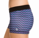 Soffe Dri Dark Chevron Pattern Spandex Shorts