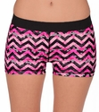 Soffe-Dri Digi Chevron Pink  / Black Junior's Compression Shorts