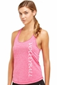 Soffe Dri Fuchsia Heather Racerback Tank Top w/ Volleyball Print