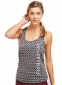 Soffe Dri Geometric Heather Racerback Tank Top w/ Volleyball Print
