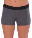 Soffe-Dri Grey Heather / Black  Junior's Compression Shorts