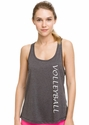 Soffe Dri Grey Heather Racerback Tank Top w/ Sport Print