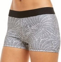 Soffe Dri Grey Spider Web Pattern Spandex Shorts