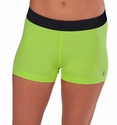 Soffe-Dri Lime Green / Black Junior's Compression Shorts