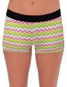 Soffe-Dri Multi-Color Chevron / Black Junior's Compression Shorts