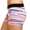 Soffe Dri Rainbow Wide Linear Spandex Shorts