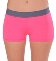 Soffe-Dri  Neon Pink / Gunmetal  Junior's Compression Shorts