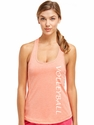 Soffe Dri Orange Heather Racerback Tank Top w/ Volleyball Print