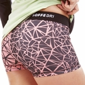 Soffe Dri Pink & Black Fractured Pattern Spandex Shorts