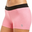 Soffe Dri Pink Heather Spandex Shorts